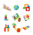 kindergarten educational toys vector image