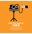 Shutter Release Cable vector image