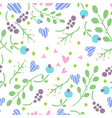 simple doodle flower pattern seamless vector image