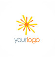 star bright shine logo vector image