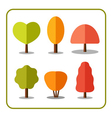Tree icons set autumn 1 vector image