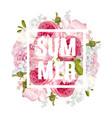 floral summer banner vector image
