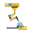 artificial intelligence machine at industrial vector image
