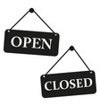 plate open closed icon sign vector image vector image