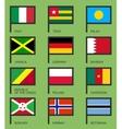 Flags flat set-06 vector image