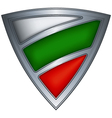 steel shield with flag bulgaria vector image