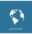 Earth Day blue and white Banner Template vector image
