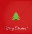 christmas letter sealed tree vector image