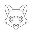 fox head line icon sign on vector image