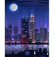 Night City Megapolis High Skyscrapers vector image