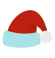 Santa Claus hat icon flat style vector image