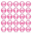 Shine Pink Glass Buttons vector image