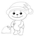 teddy bear santa claus contours vector image