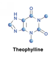 Theophylline methylxanthine drug vector image