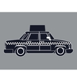 silhouette taxi car with publicity side view vector image