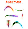 set of isolated blurred wave element vector image