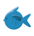 fish cartoon isolated vector image