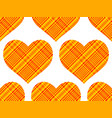 cotton heart pattern vector image vector image