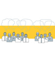 Business people talking Concept vector image vector image