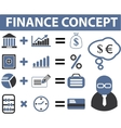 finance signs vector image vector image