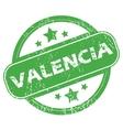 Valencia green stamp vector image