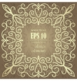 Gold vintage card with floral patterns vector image vector image