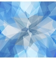 Abstract geometric ice flower vector image