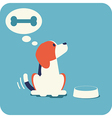 Beagle waitng for feeding vector image