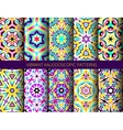 Bright kaleidoscopic patterns set vector image