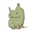 Cartoon rhino vector image