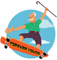 Forever young vector image