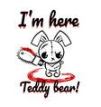 halloween evil bunny voodoo doll pop art comic vector image