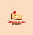 modern professional sign logo cheesecake vector image