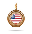 round medallion with inscription - memorial day vector image