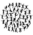 Hip Hop and Happy Jumping Expressions vector image