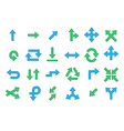 Arrows colorful icons set vector image