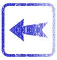 arrow left framed textured icon vector image