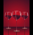 glasses of red wine vector image vector image