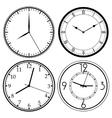 Wall Clock template vector image vector image