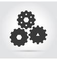 Gear simple icon vector image