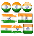 India flag on different objects vector image