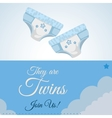 Baby shower design invitation design isolated vector image
