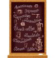 Blackboard for cafe vector image