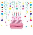 happy cake on white background vector image