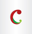 letter c icon abstract design element vector image