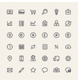 Set of Line Business Icons vector image