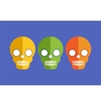 Skulls for Halloween vector image