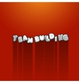 Team building title background with long shadow vector image