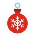 Christmas ball icon flat style vector image