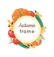 Autumn Frame Concept in Flat Design vector image